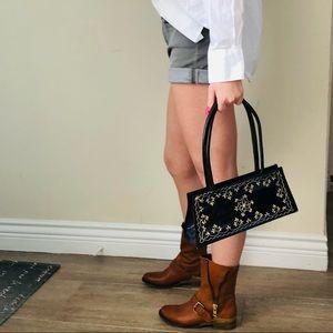 🖤HP **VTG Embroidered leather bag